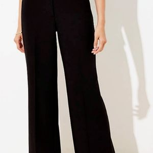 Loft 2 Two Kate Pants Black Wide Leg Trousers NWOT